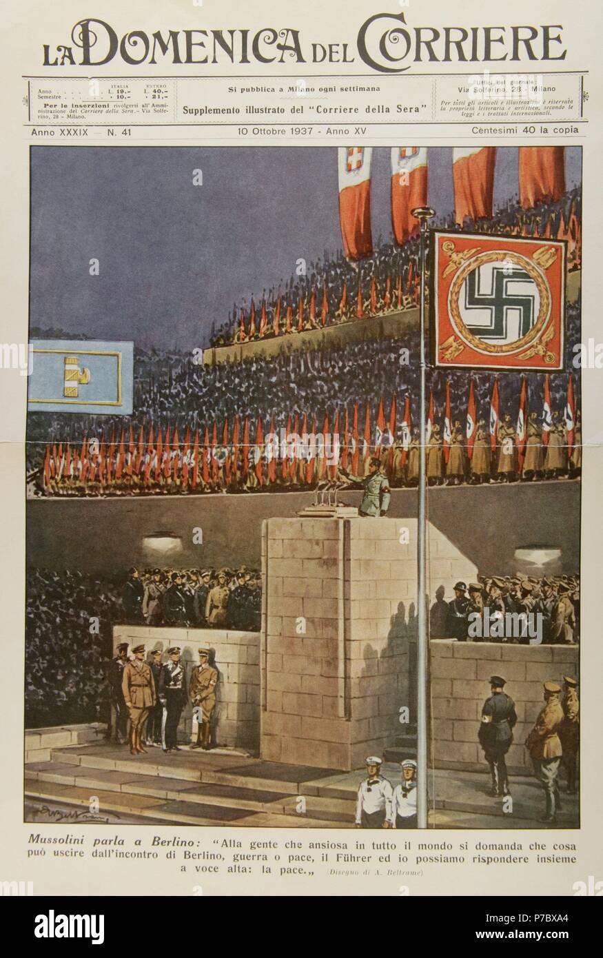 Benito Mussolini 1883 1945 Italienischer Faschistischen Politiker