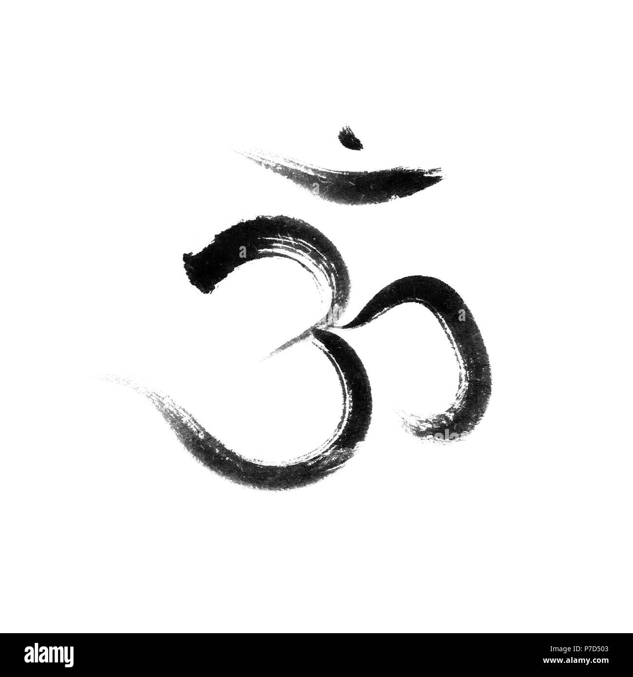 Sanskrit Heilige Symbol Om Oder Aum Spirituelles Symbol Mit Dem
