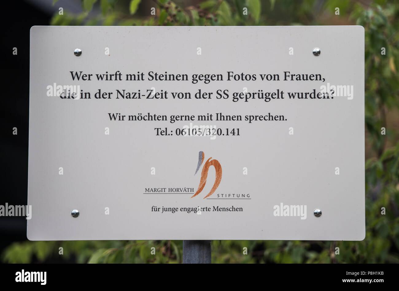 Mörfelden Walldorf Deutschland 11 Juli 2018 Dieses Zeichen Wurde