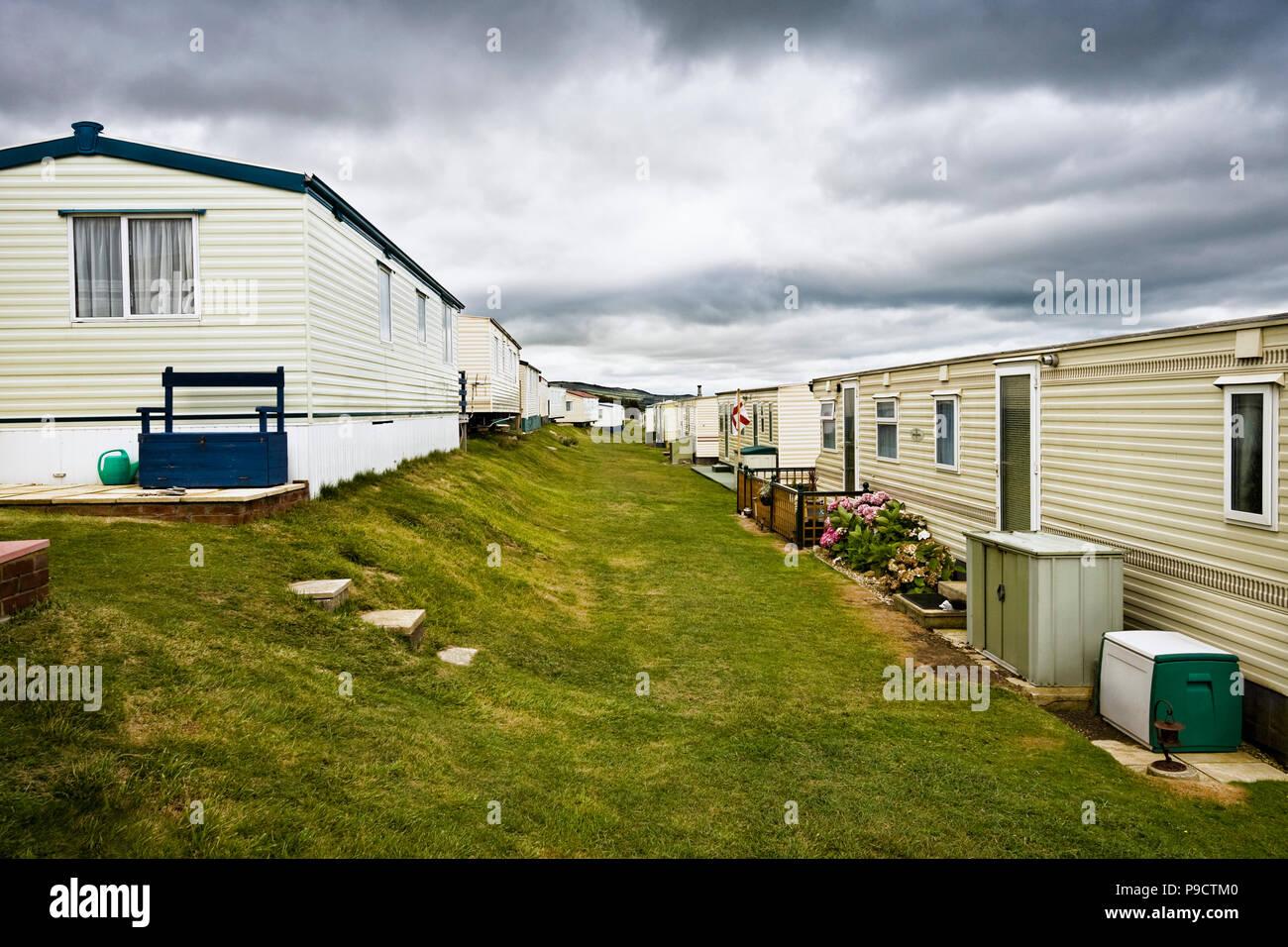 Mobilheim Mieten Cornwall : Traditionelle britische mobilheim oder static caravan holiday park