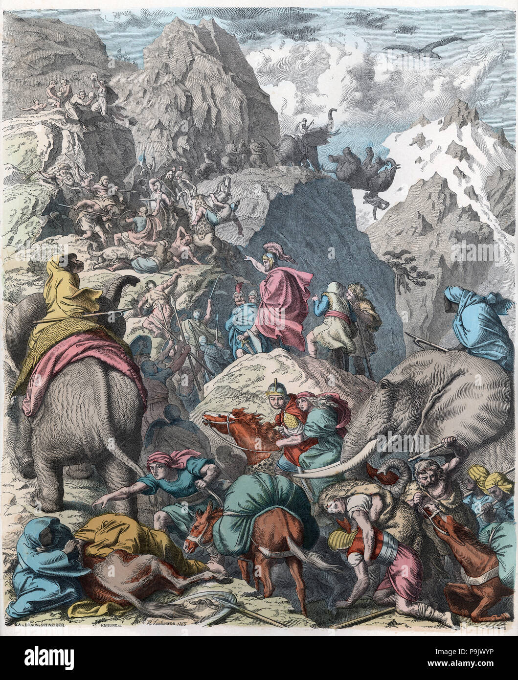 Alte Geschichte Karthago Hannibal Und Seine Armee Bestehen Der