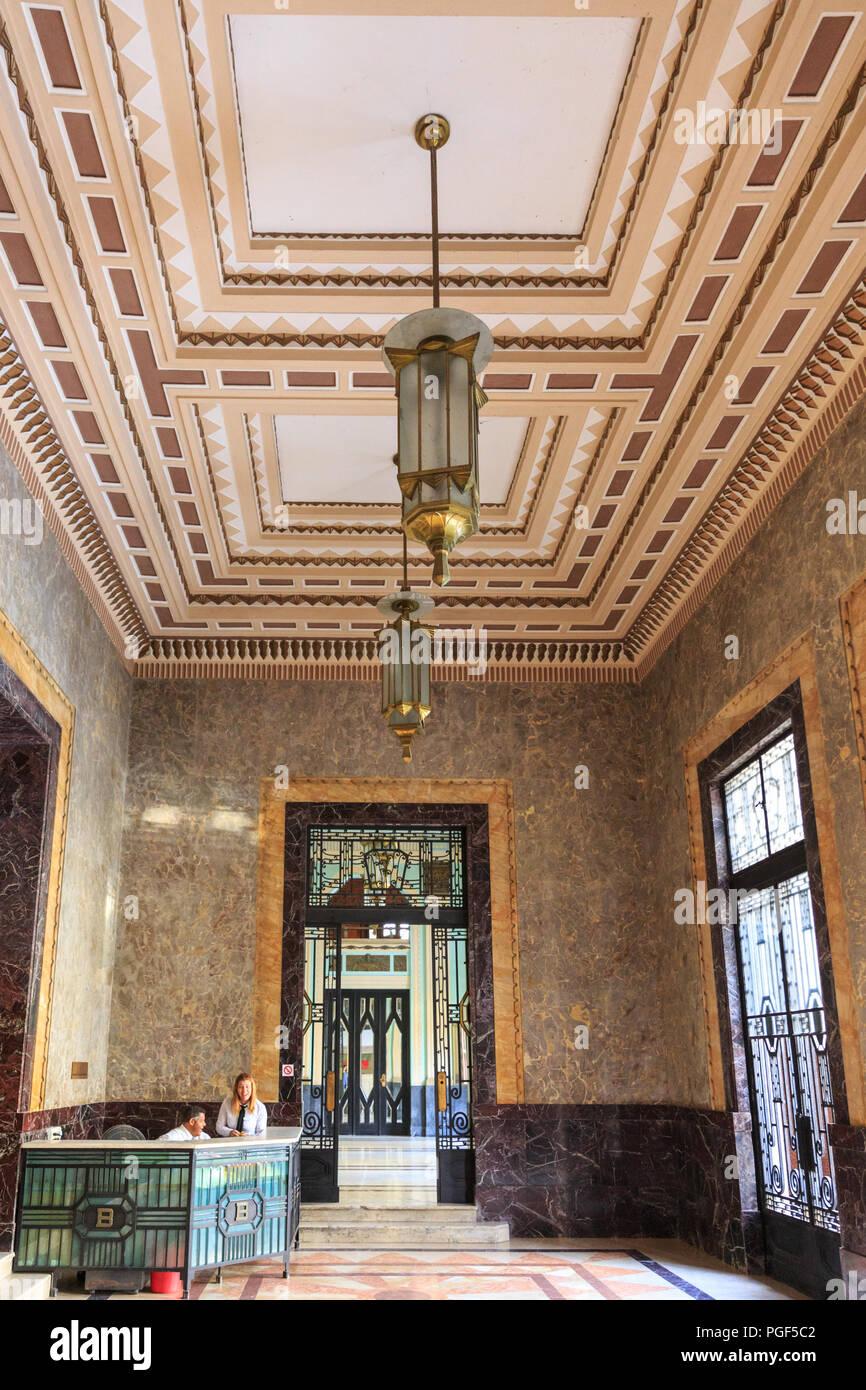 Bacardi Gebäude, Edificio Bacardi, Interieur, Art Deco Lobby und ...