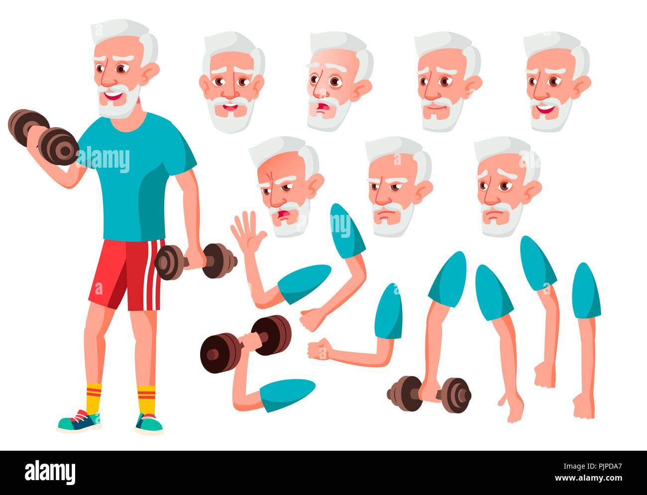 Alter Mann Vektor Altere Person Alter Altere Menschen Niedlich