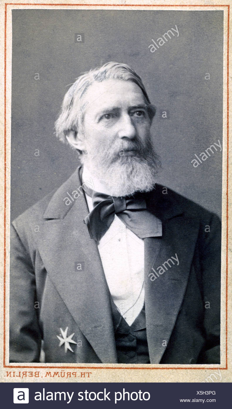 Redern, Hermann von, 1819 - 1886, Prussian General, Honourary Knight of the Order of Saint John, 1873, portrait, photograph by T Stockbild