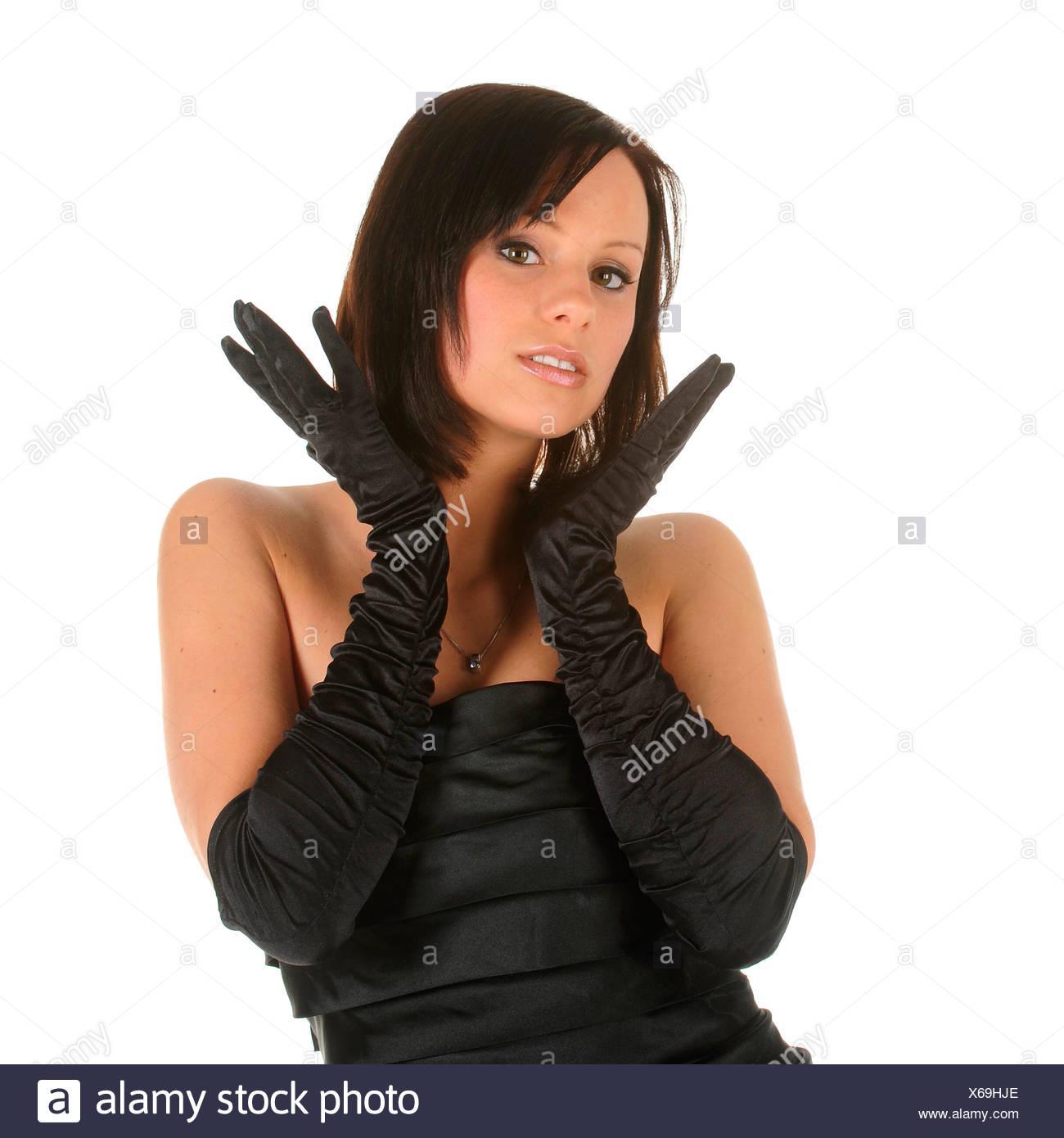 Handschuhe abendkleid schwarz