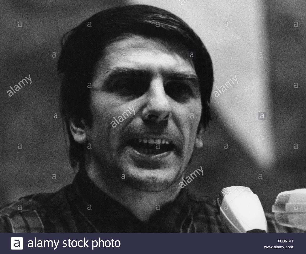Dutschke, Rudi, 7.3.1940 - 24.12.1979, German student leader, delivering a speech, Berlin, 1968, student movement, politician, F Stockbild