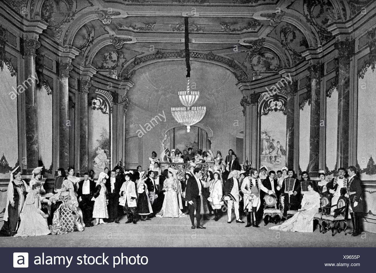 Tchaikovsky, Pyotr Ilyich, 7.5.1840 - 6.11.1893, Russian composer, opera 'Eugene Onegin', 1881, scene, performance, Theater des Stockbild