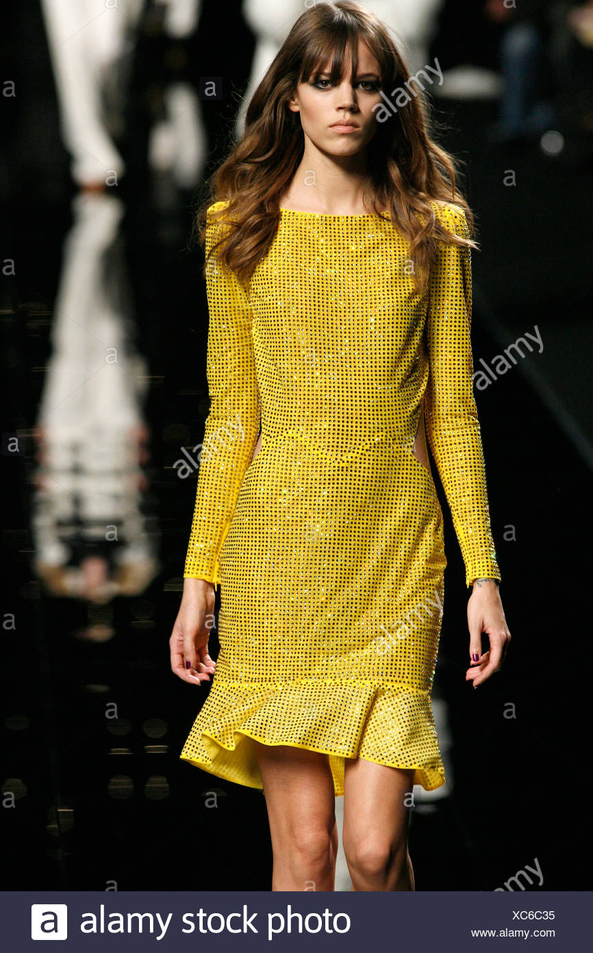 Kleid langarm gold