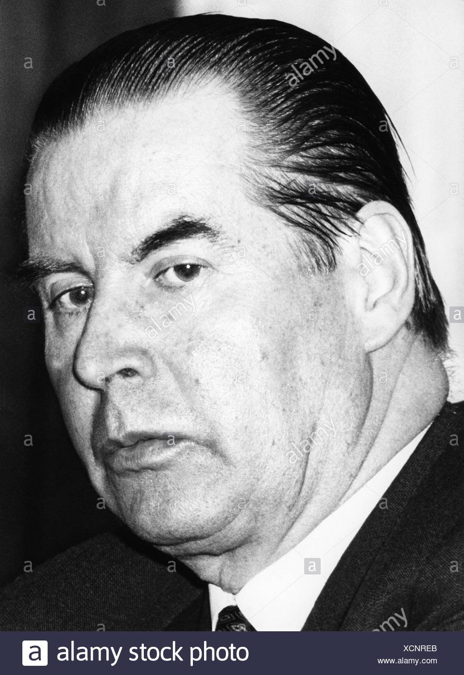 Schroeder, Gerhard, 11.10.1910 - 31.12.1989, German politician (CDU), Chairman of the Board of Foreign Affairs 1969 - 1980, port Stockbild