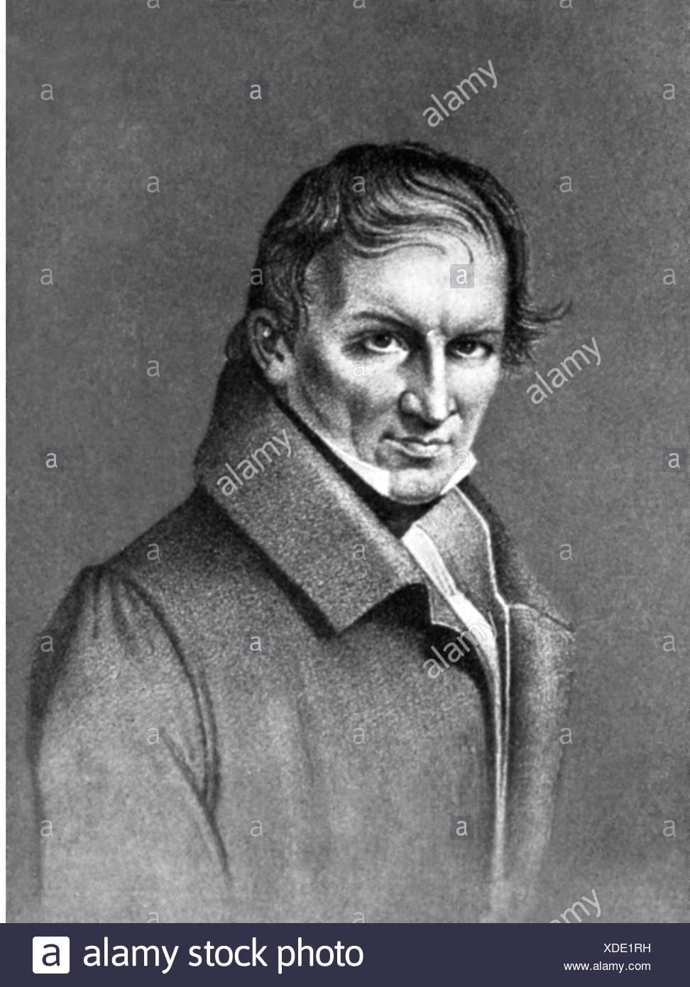 Tieck, Christian Friedrich, 14.8.1776 - 24.5.1851, German sculptor, portrait, lithograph by Johann Sprick after drawing by Stockbild