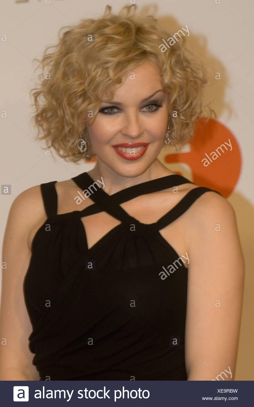 Minogue, Kylie, * 28.5.1968, Australian singer, portrait, at Presentation of the Golden Camera, Berlin, Germany, 6.2.2008, Germa Stockbild
