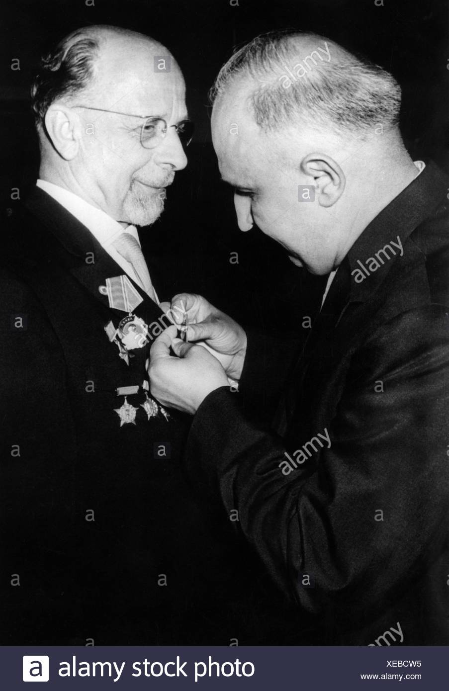 Ulbricht, Walter, 30.6.1893 - 1.8.1973, German politician (SED), Chairman of State Council of the German Democratic Republic 12. Stockbild