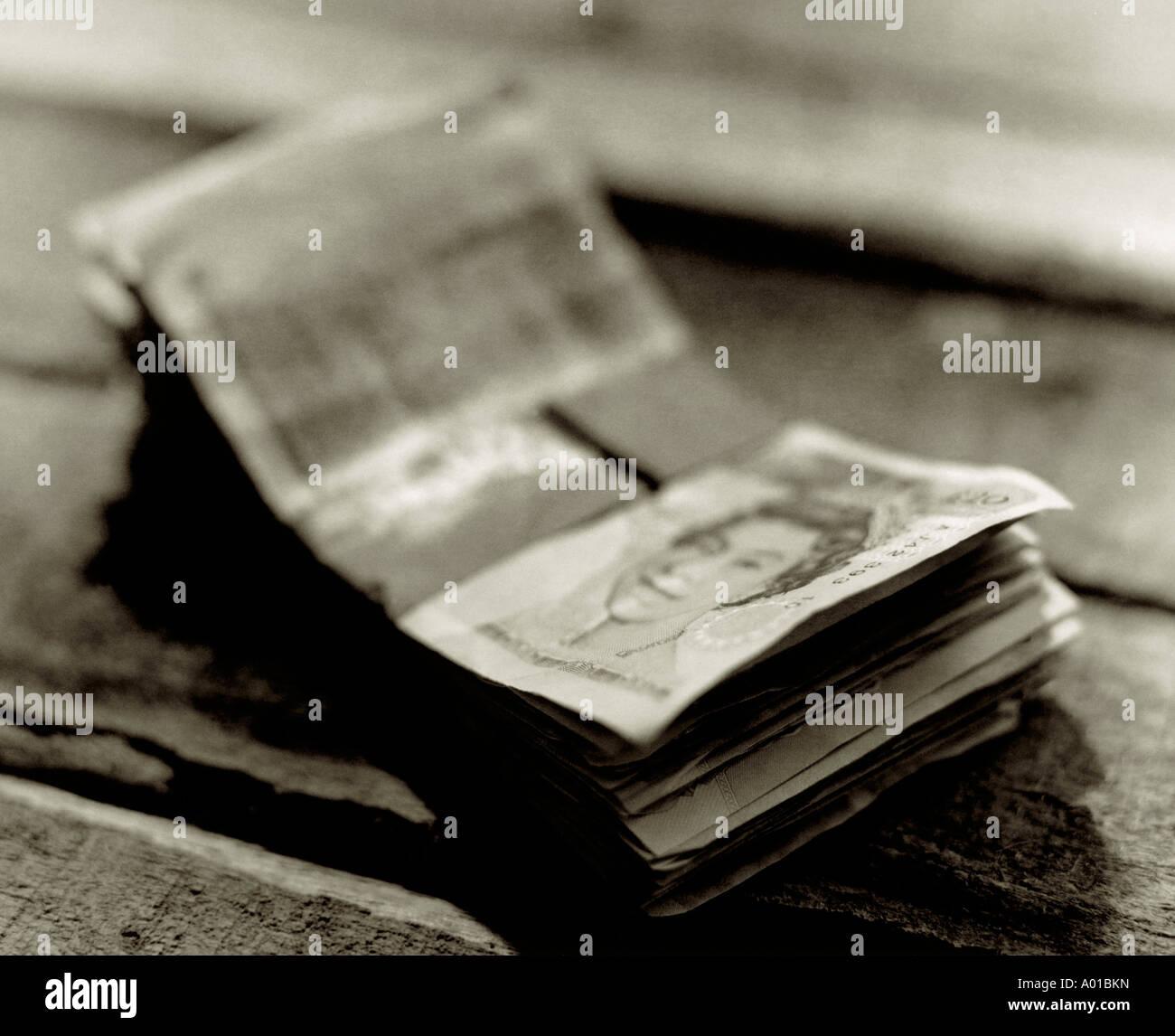 Zwanzig Pfund-Noten Stockbild