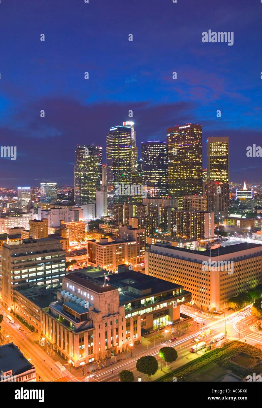 Die Innenstadt von Los Angeles, Kalifornien, USA Stockbild