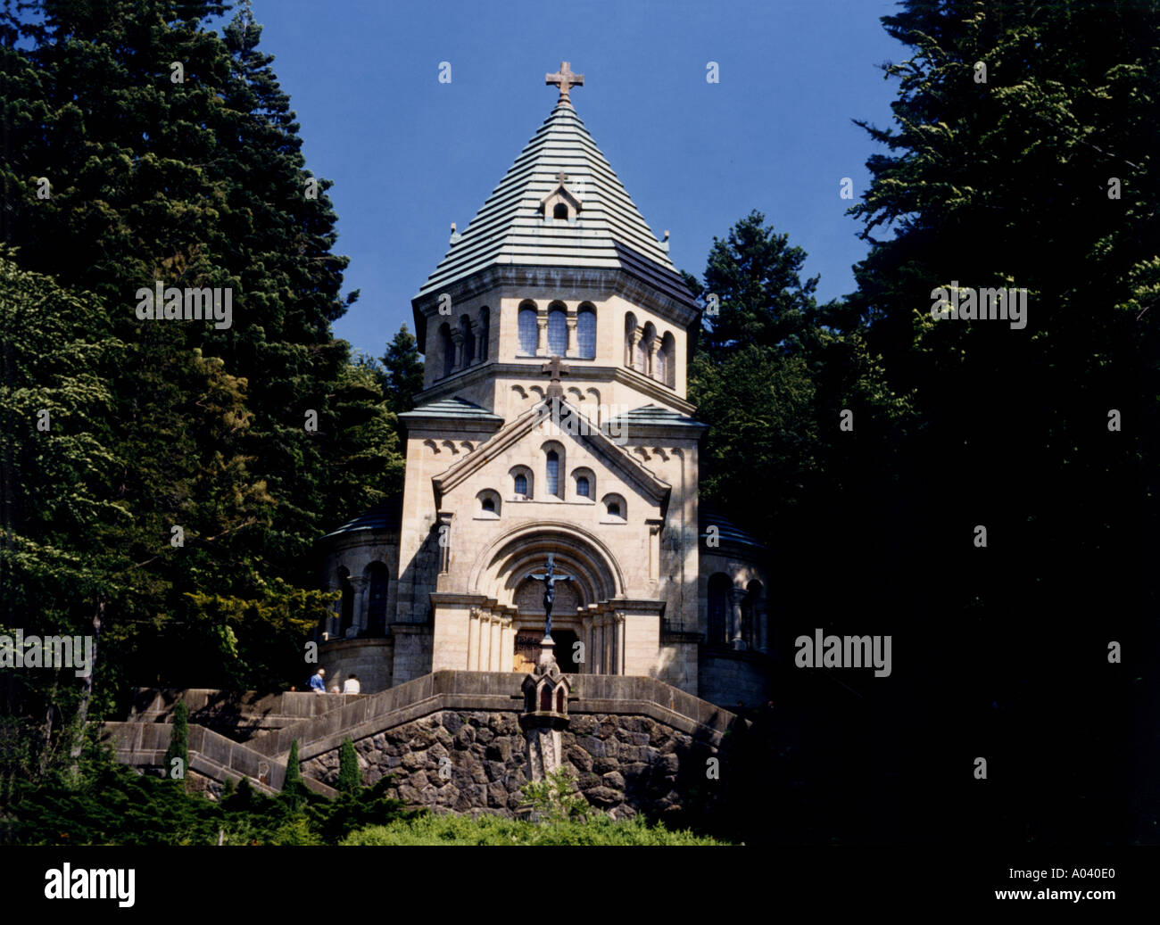 Deutschland-Bayern-Votivkapelle am Berg Stockbild