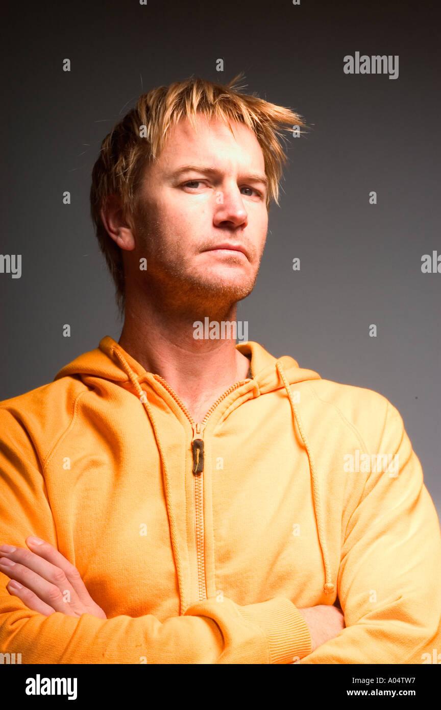 Porträt eines Mannes. Stockbild