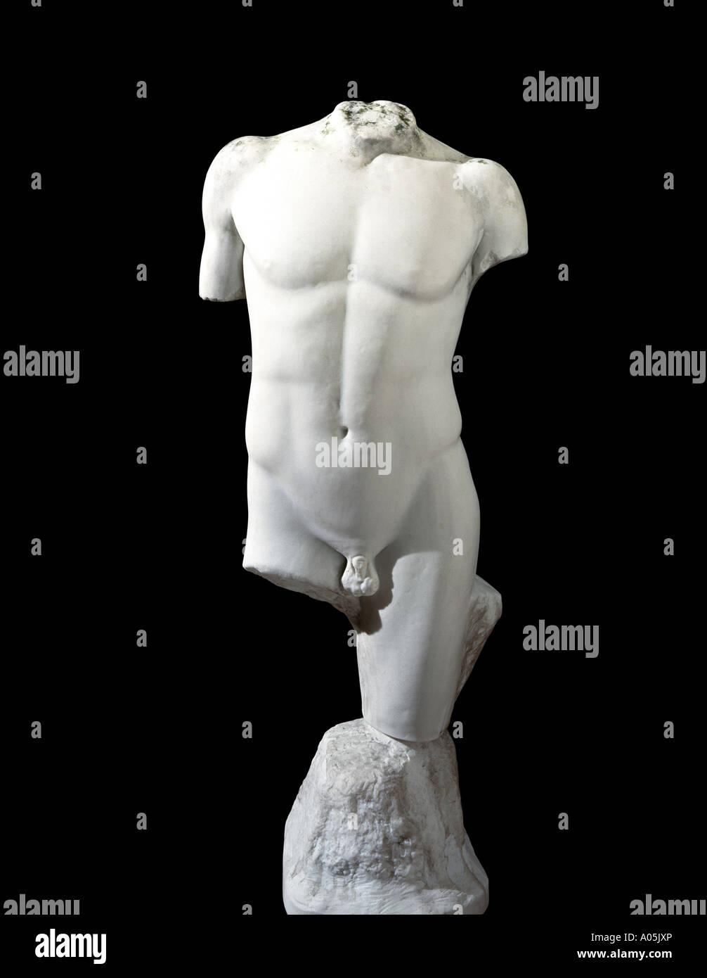 Eine klassische Marmorstatue Stockbild
