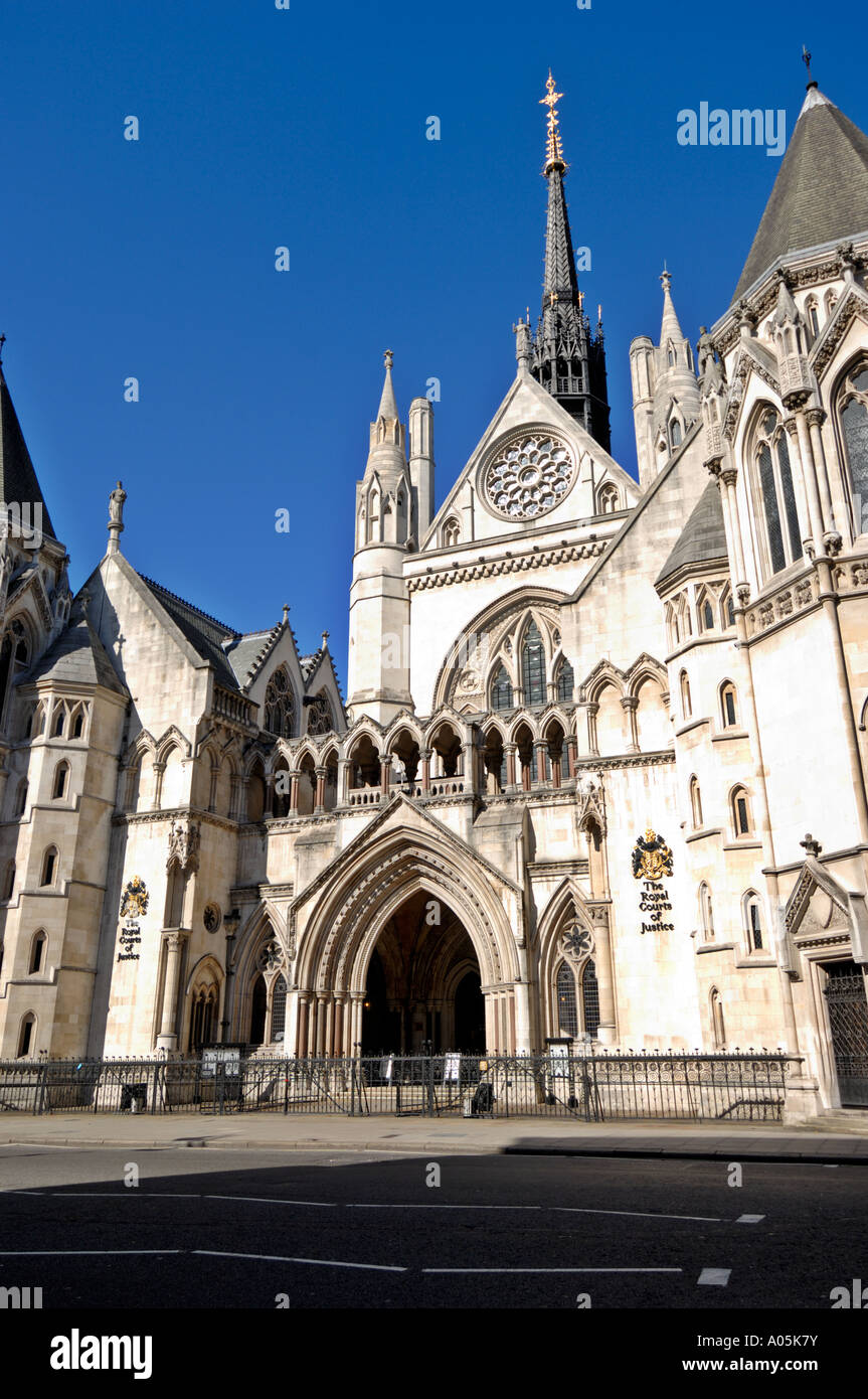 Royal Courts of Justice, London, Vereinigtes Königreich Stockfoto