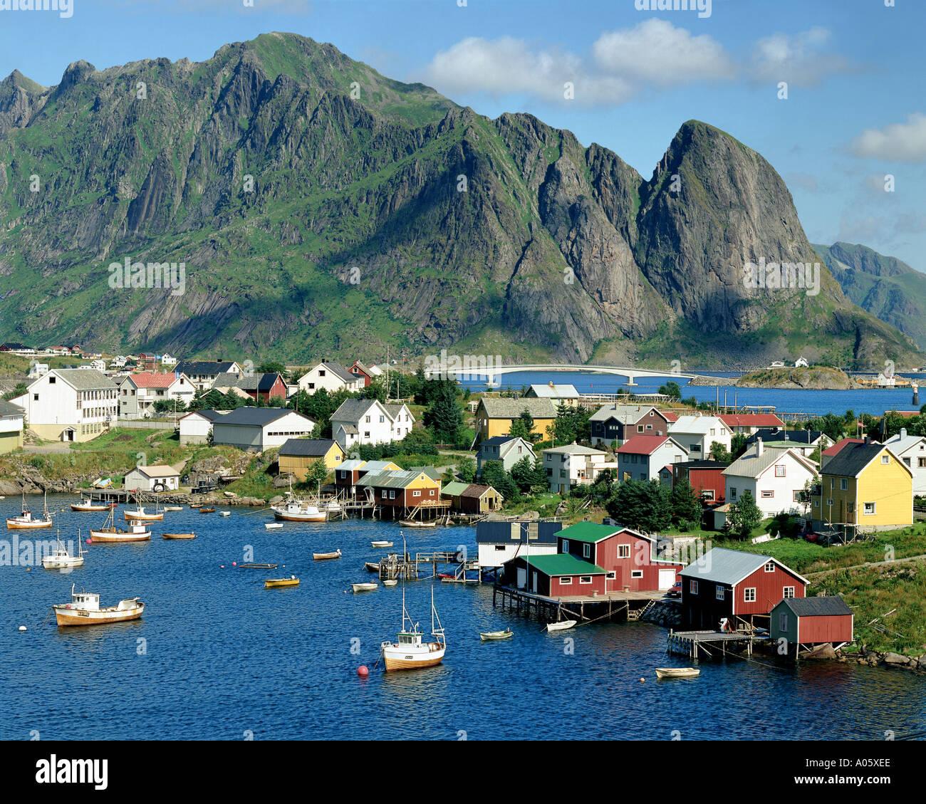 NO - LOFOTEN-Inseln: Reine Stockbild