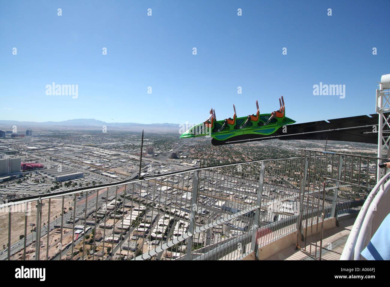 X Scream Thrill Ride Das Stratosphere Hotel Las Vegas Nevada