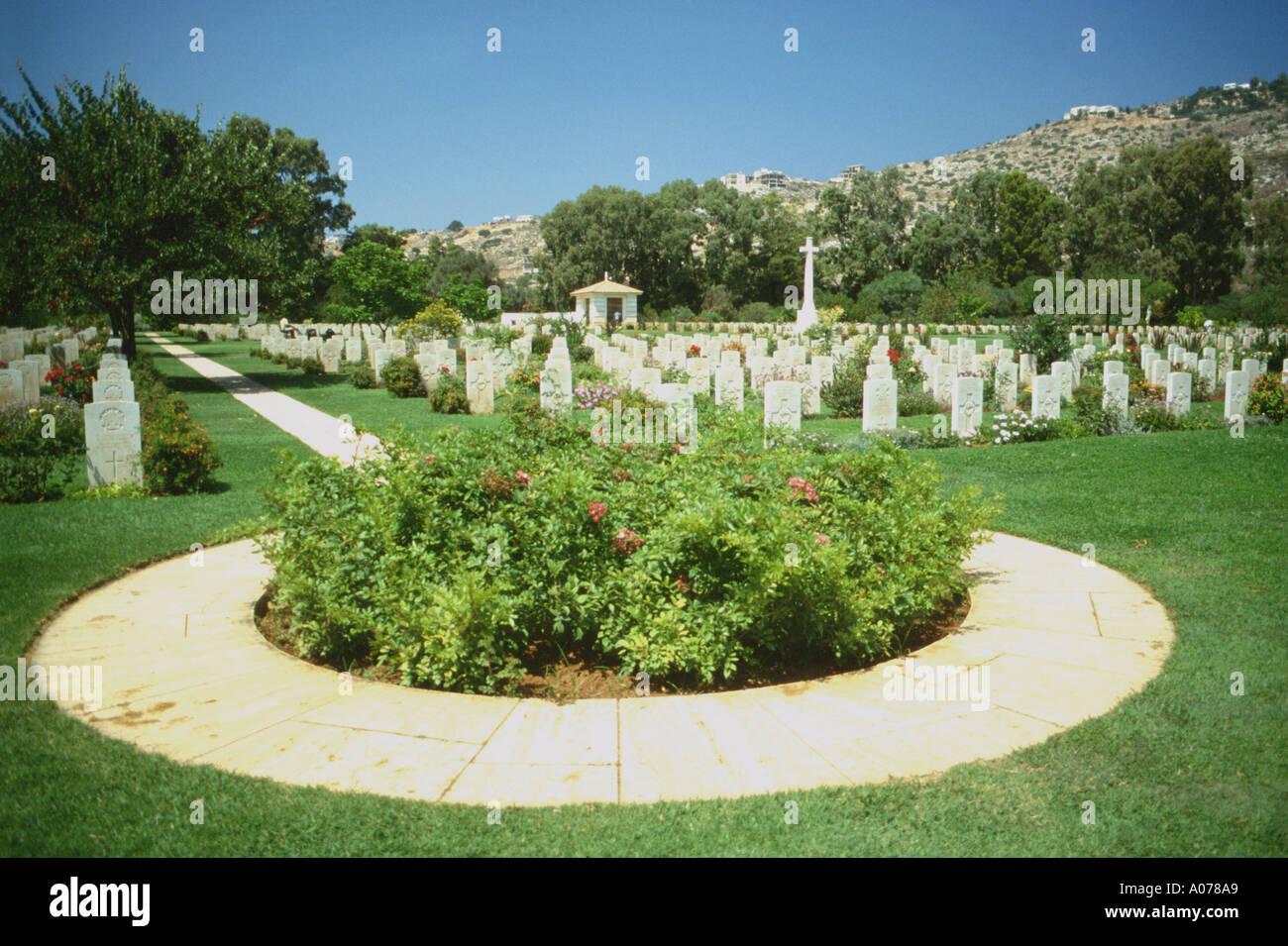 Souda Bay Kreta War Memorial Cemetery und Grabsteine Griechenland Europa Stockbild
