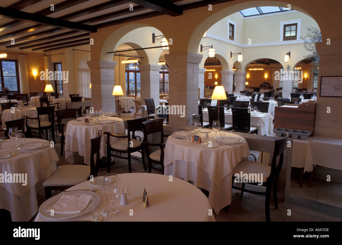 Restaurant adler thermae bagno vignoni toskana italien stockfoto