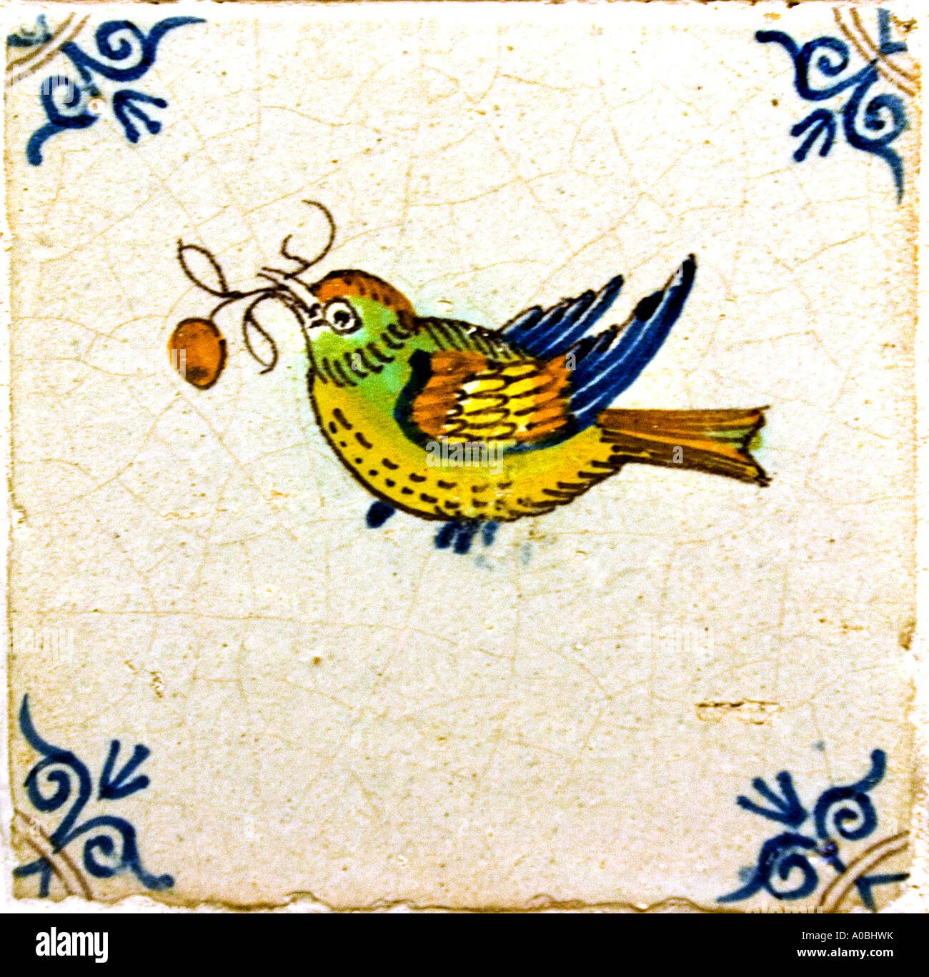 Leiden-Museum Malerei Vogel 18 Jahrhundert Stockbild