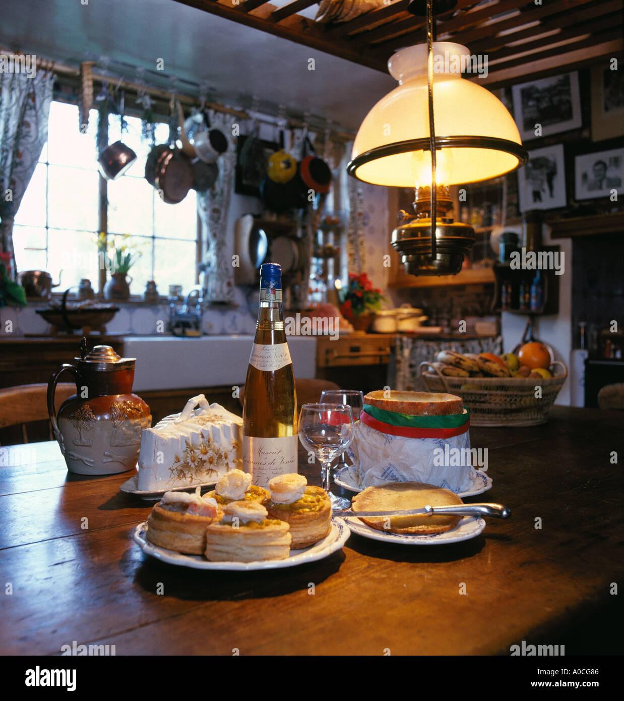 Englische Landhausküche Stockbild