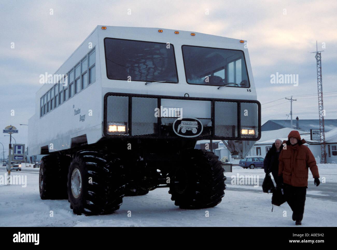 Stadt von Churchill Manitoba Kanada Nordamerika Polarkreis-Tundra ...