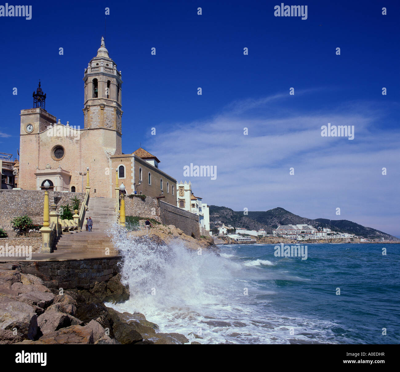Sitges-Katalonien-Spanien Stockbild