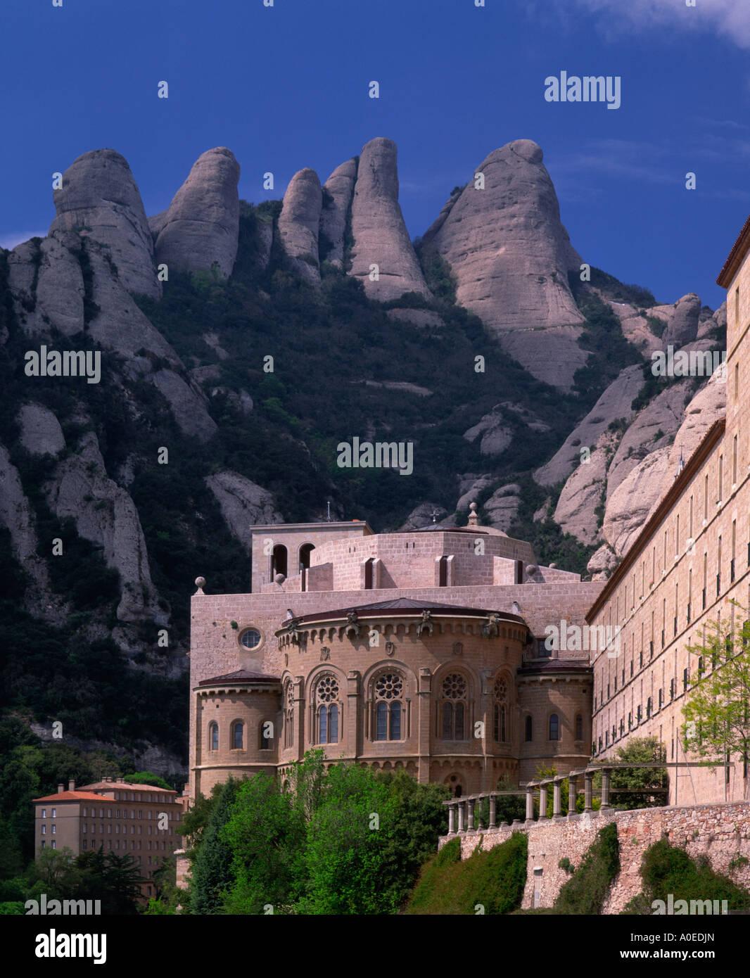 Montserrat-Kloster-Katalonien-Spanien Stockbild