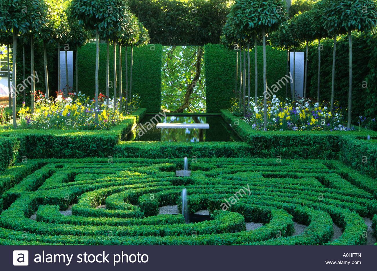 Buchsbaum labyrinth knoten garten stockfoto bild 9999560 alamy - Buchsbaum garten ...