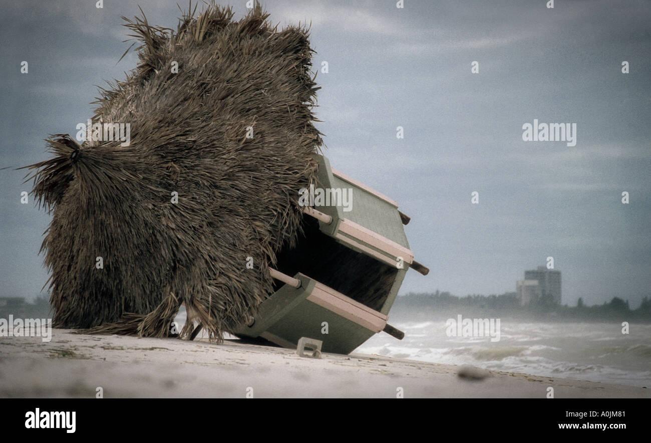 Strand nach Hurrikan Stockbild
