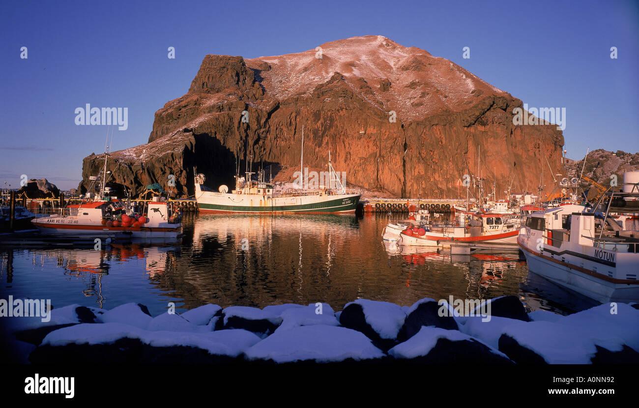 Heimaey Westmännerinseln Island Stockbild