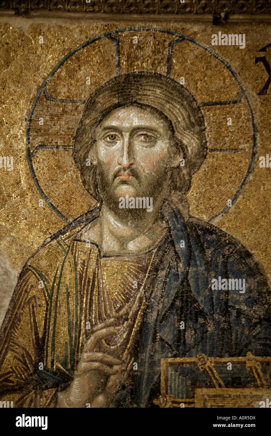 Mosaik des Christus-Santa Sofia-Istanbul-Türkei-Europa-Eurasien Stockbild