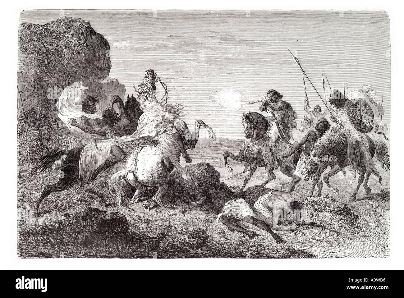 Abessinier Kriegsführung Sudan Sudan Abessinien Äthiopien Afrika ...