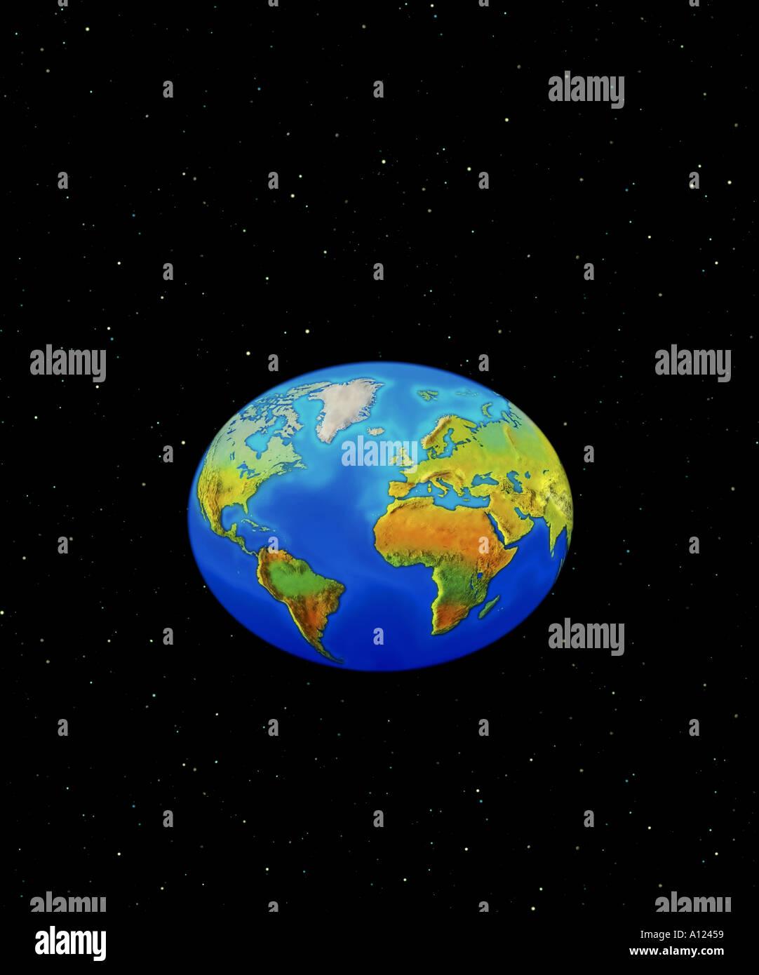 Welt als oval Stockbild