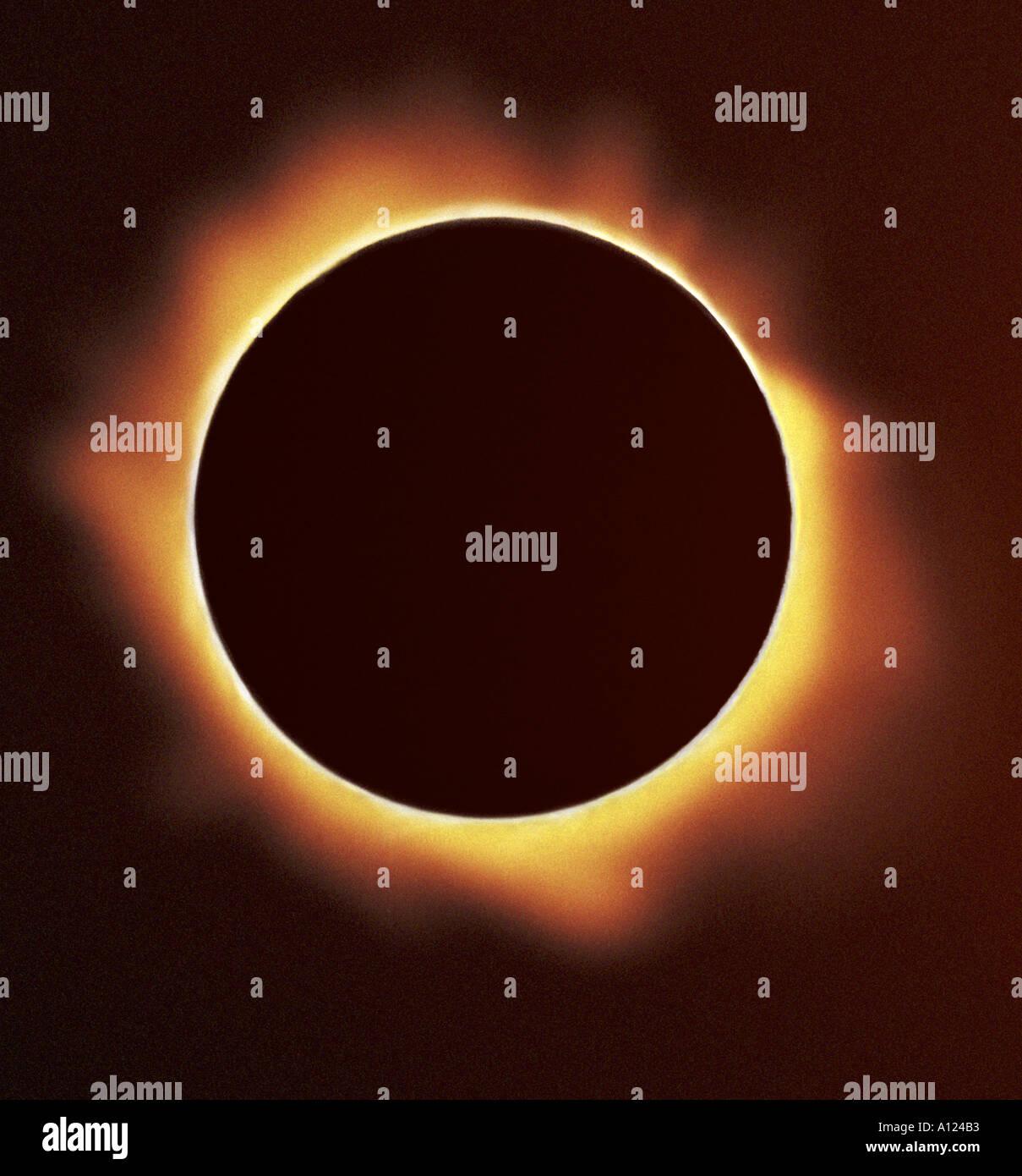 Totale Sonnenfinsternis die Sonne Stockbild