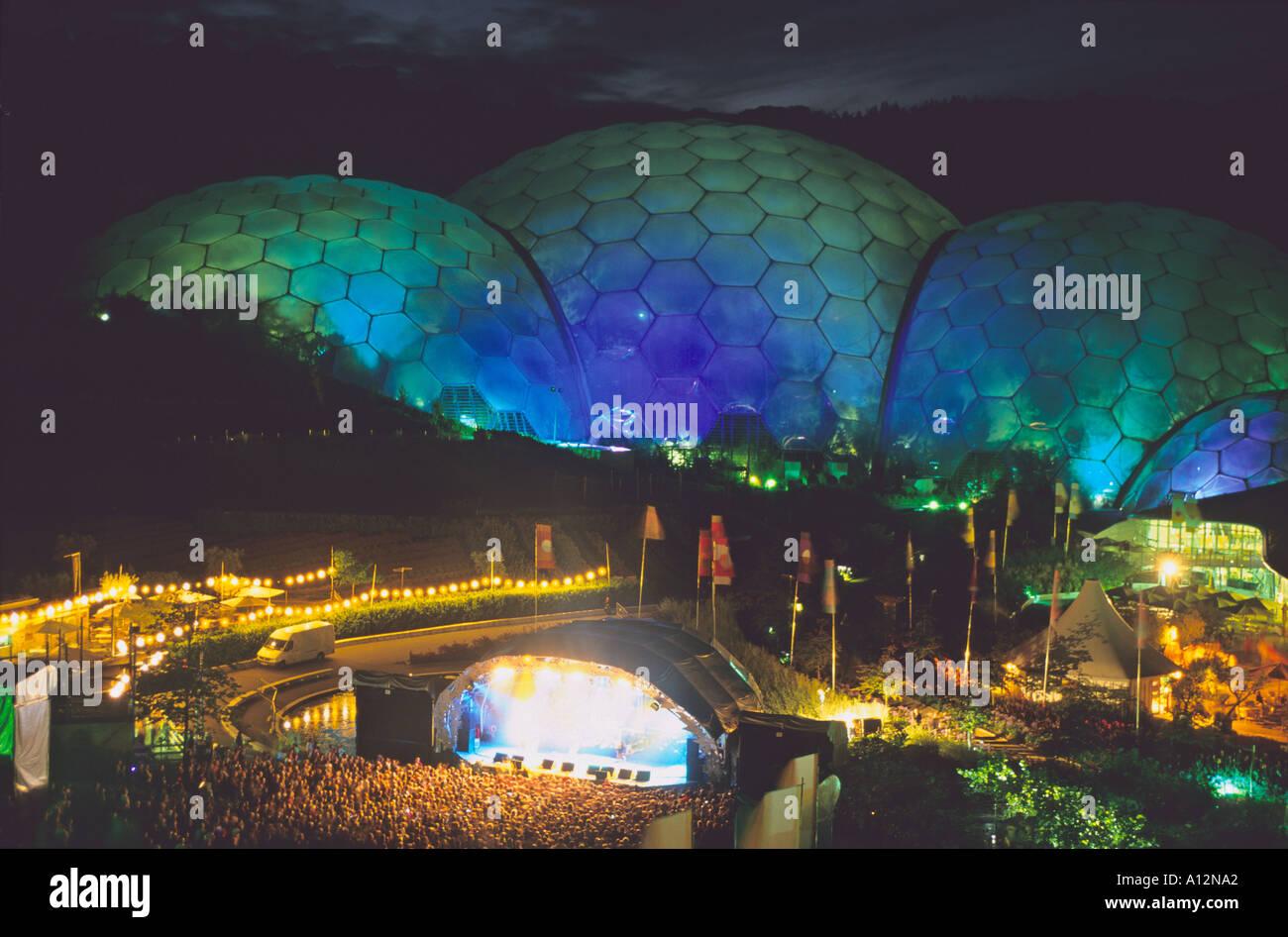 Rock-Konzert im Eden Project Stockbild