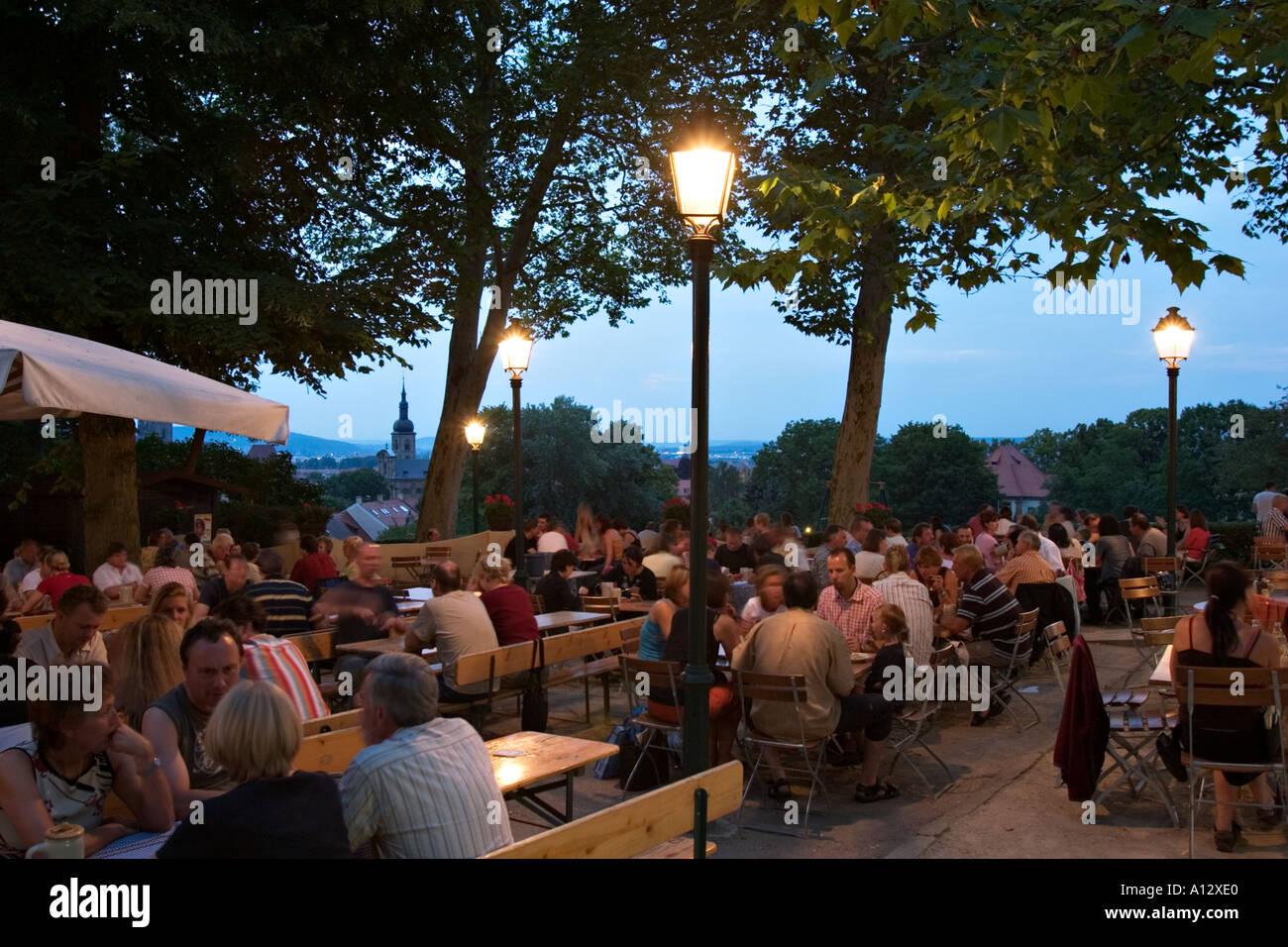 Bier Garten Spezial Keller Bamberg Franken Deutschland Stockfoto