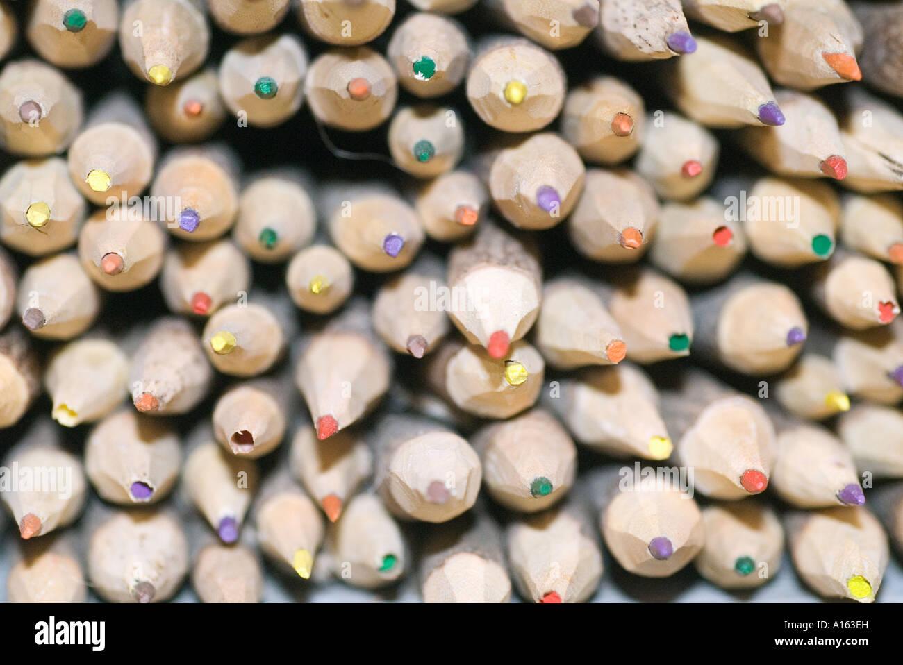 natürliche Holzbleistifte Stockbild
