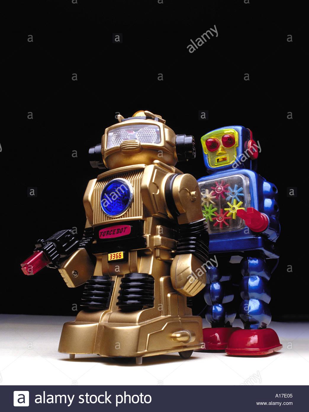 Grau Blechroboter Hart Arbeitend Roboter Mechanical Robot