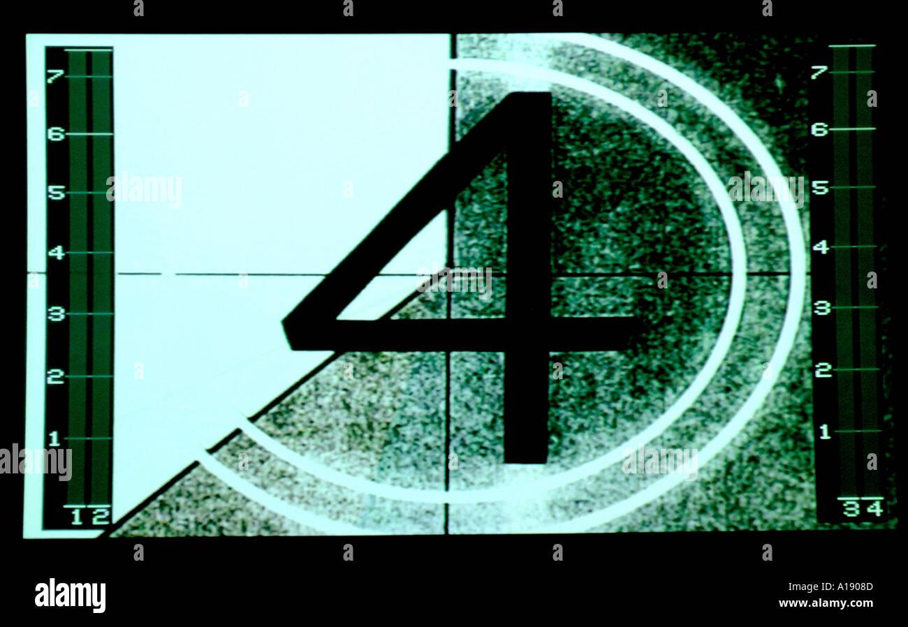 Film-countdown Stockbild