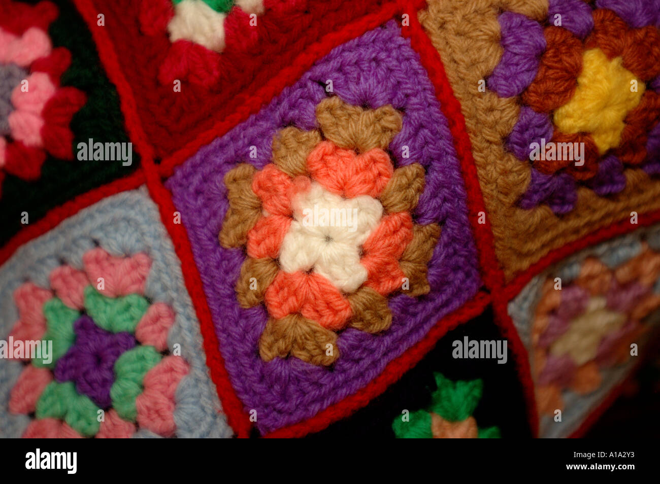 Afghanische Stricken Stricken Nadel Arbeit Hobby Muster Muster rosa ...