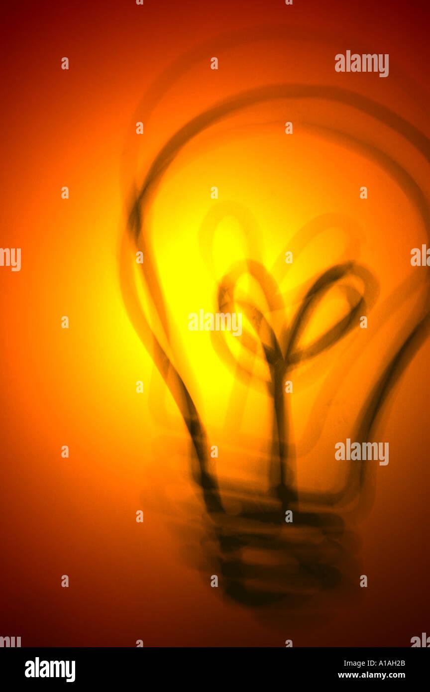 Glühbirne Abbildung Ideen Idee Stockbild