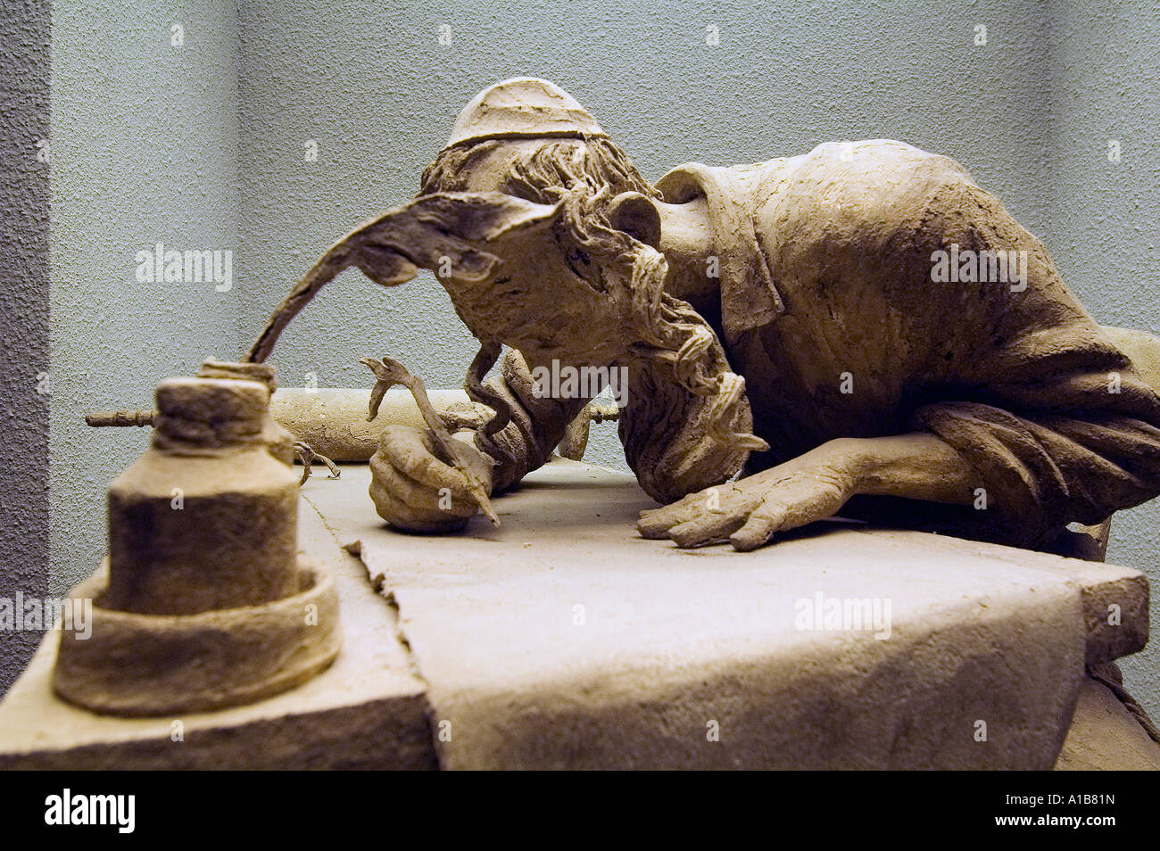 Skulptur Darstellung des jüdischen Tam\' Kalligraph schreiben ...