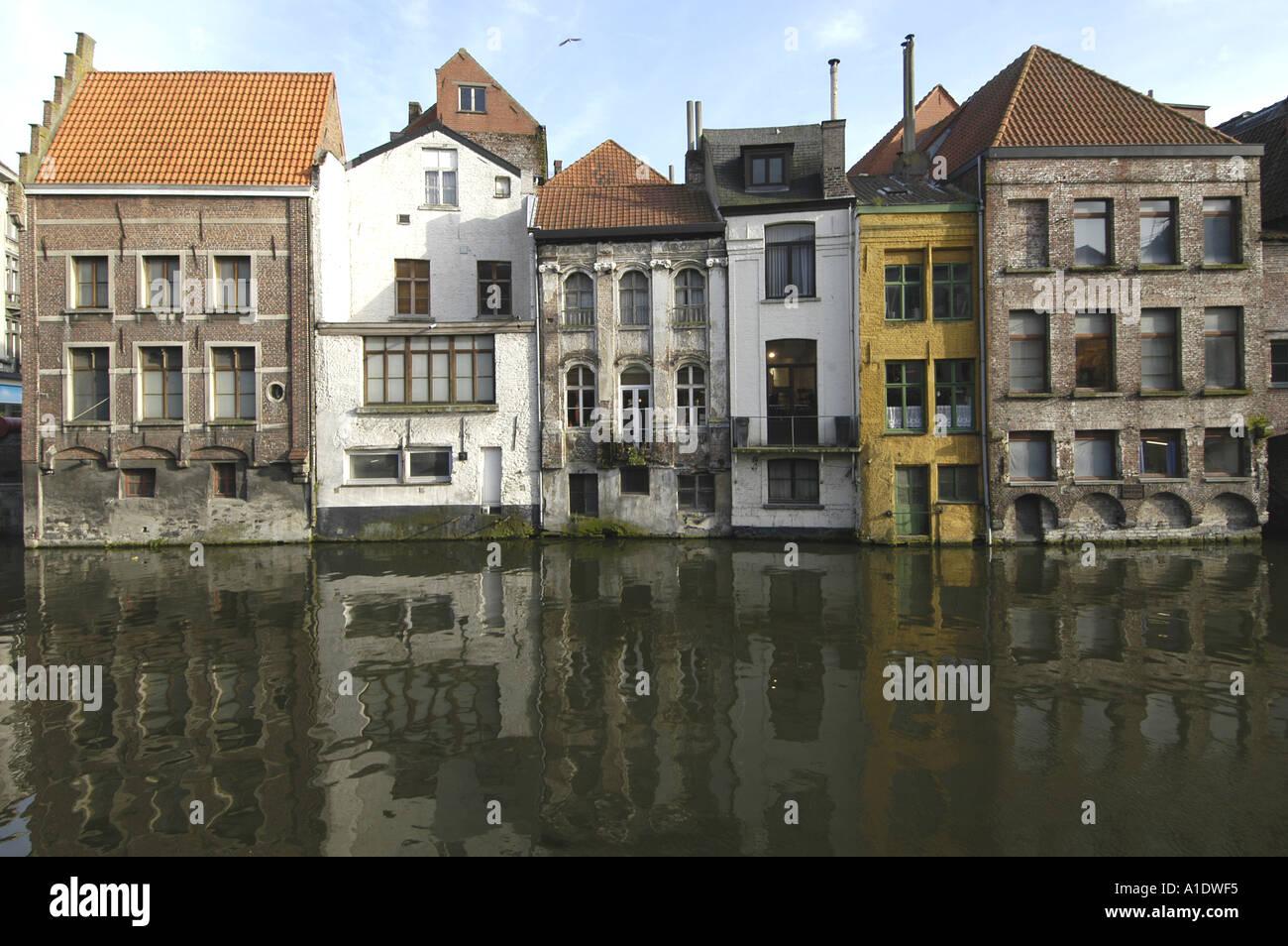 Blick vom kraanlei im bereich het huis van alijn gent belgien nano