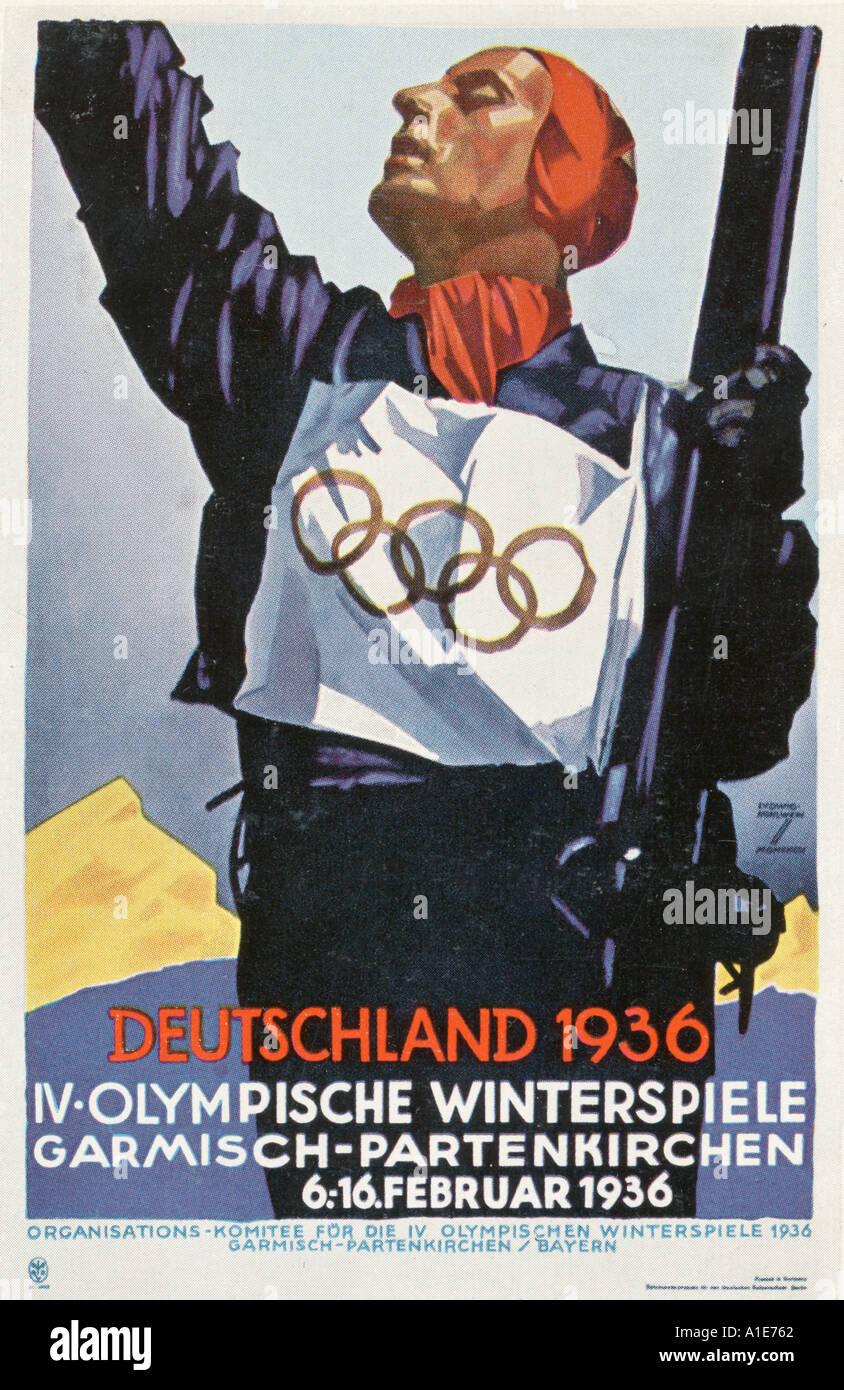 Poster Der Olympischen Spiele 1936 Stockfotografie Alamy
