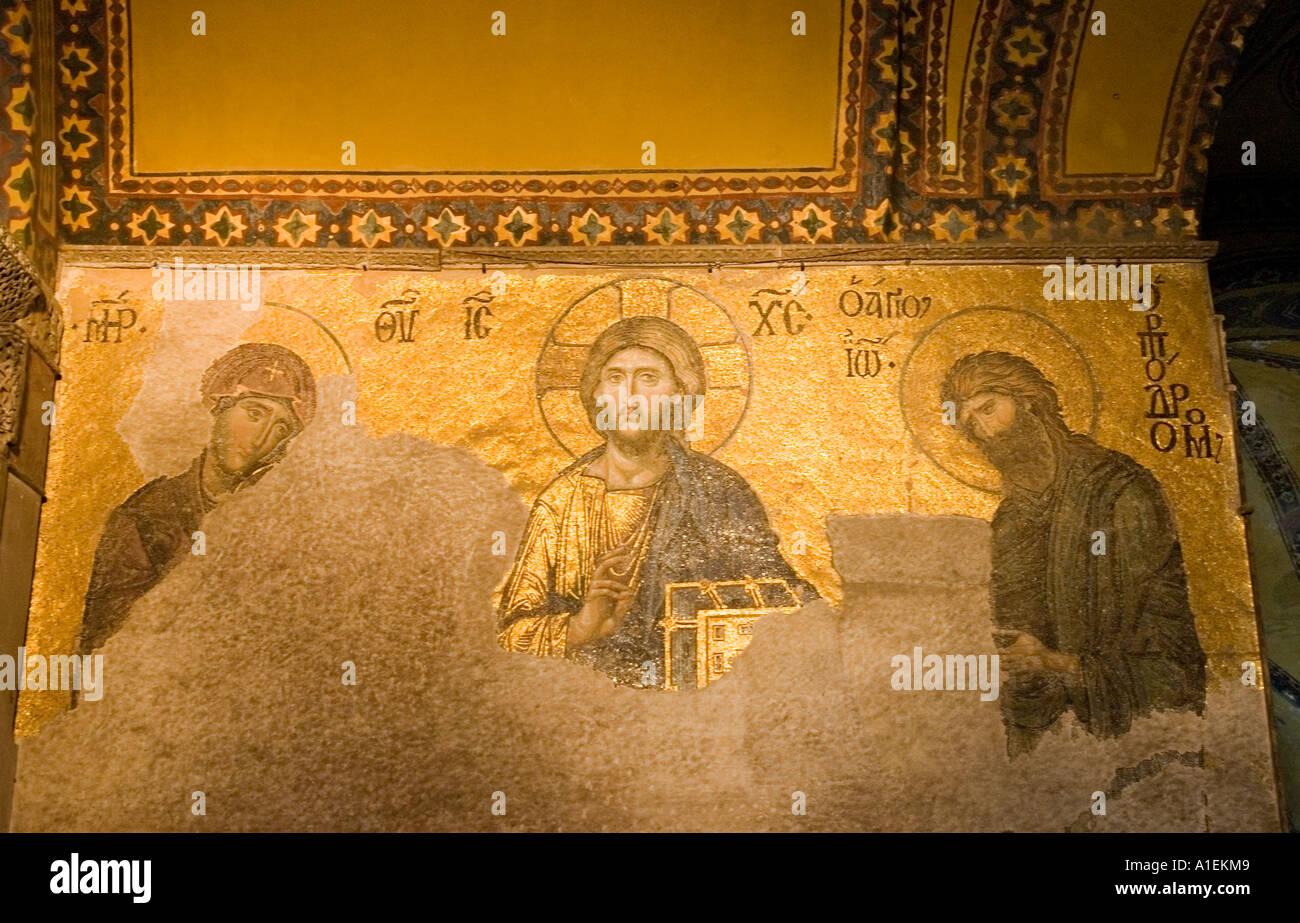 gold-mosaiksteine, fliesen, zeigen das jüngste gericht, christus