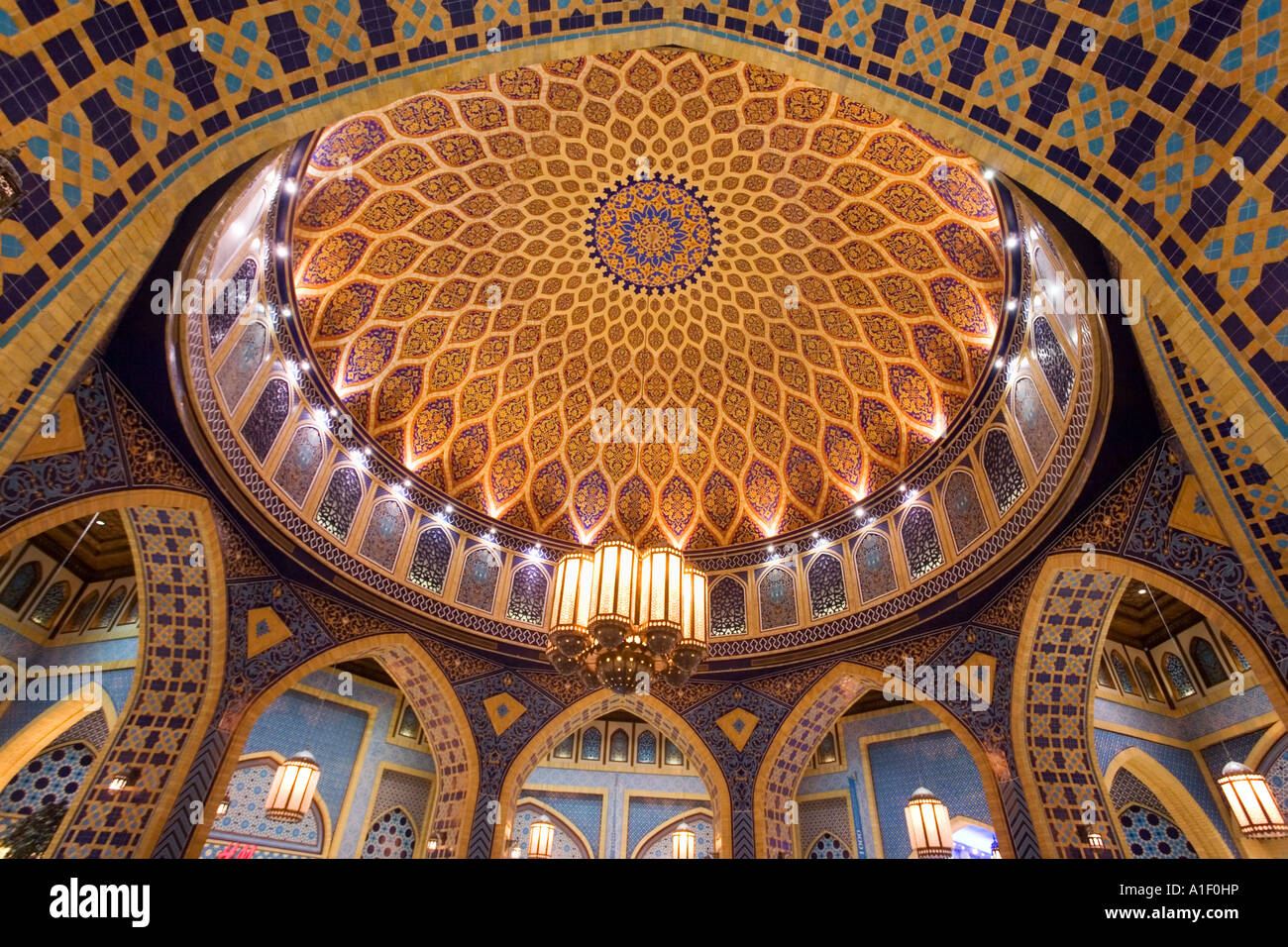 Ibn Battuta Mall in Dubai persischen Stil interieur Stockbild